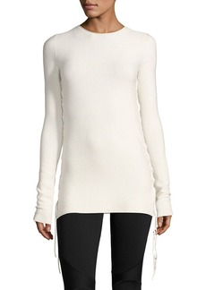 THE ROW Edal Ruched-Side Sweater