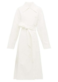 The Row Efo stonewashed linen-blend trench coat