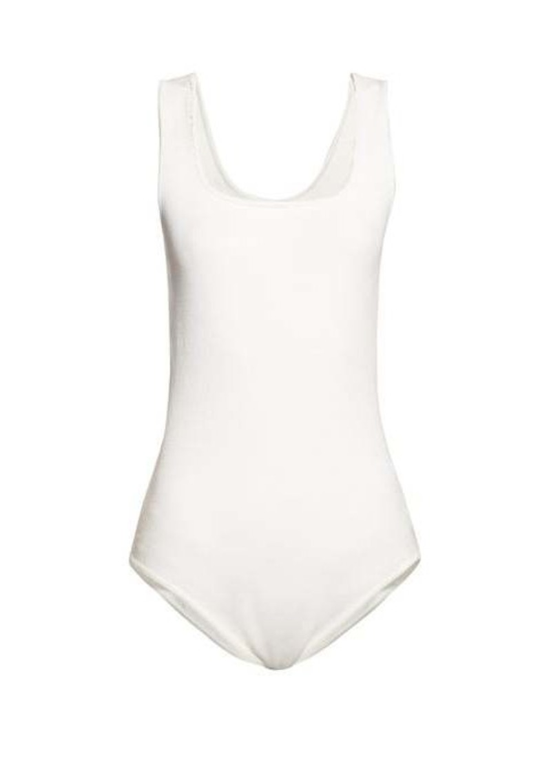 The Row Elian square-neck knitted bodysuit