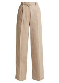 The Row Elin cotton-denim trousers
