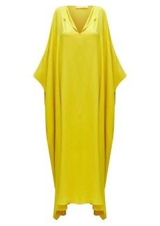 The Row Enrico silk kaftan maxi dress