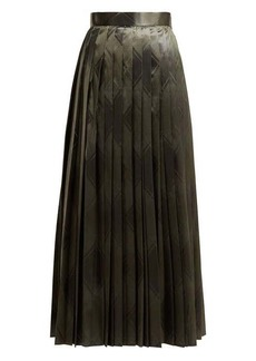 The Row Essa pleated silk-jacquard skirt
