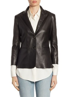 The Row Essentials Nolbon Leather Jacket