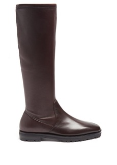 The Row Fiona stretch-leather knee-high boots