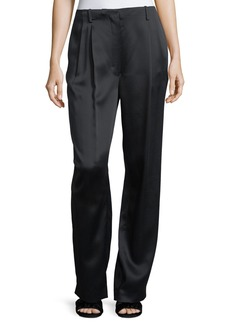 THE ROW Firth Satin Wide-Leg Pants
