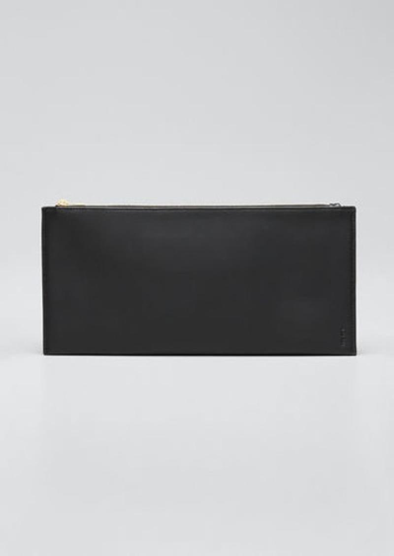 THE ROW Flat Clutch Bag in Shiny Calfskin