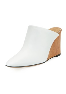 THE ROW Flora Leather Wedge Mule