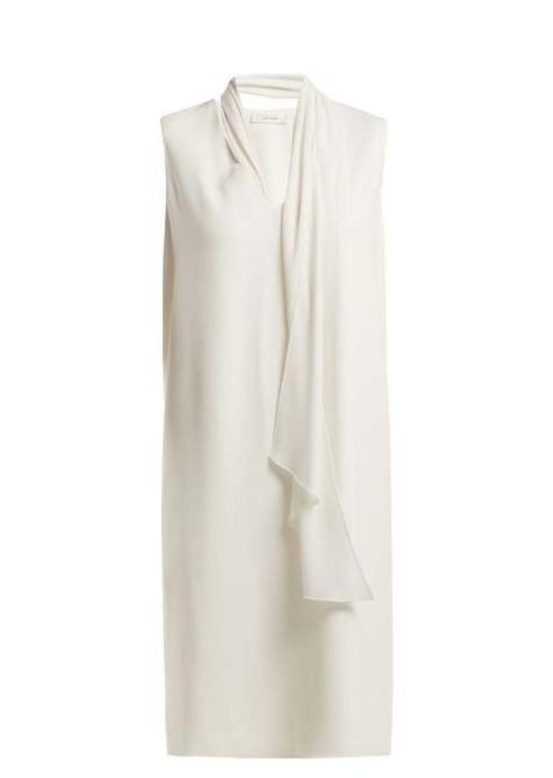 The Row Flynn neck-tie cady dress