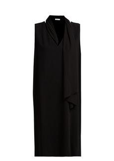 The Row Flynn tie-neck cady dress