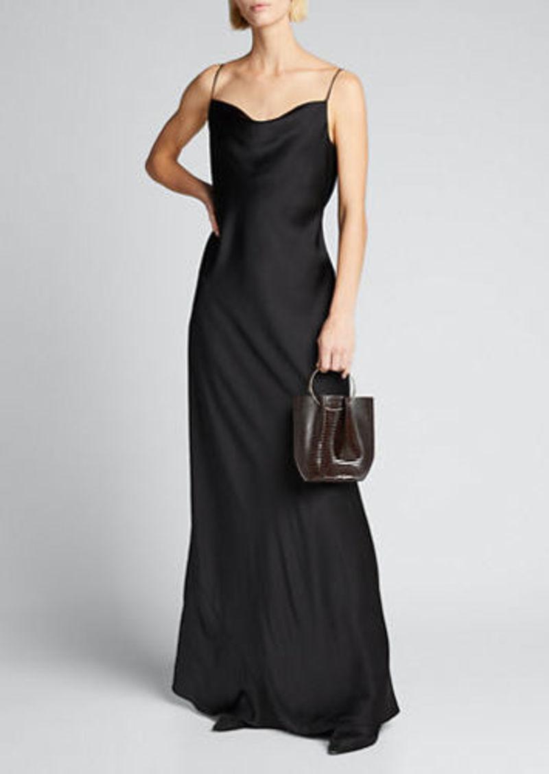 THE ROW Franca Silk A-Line Gown