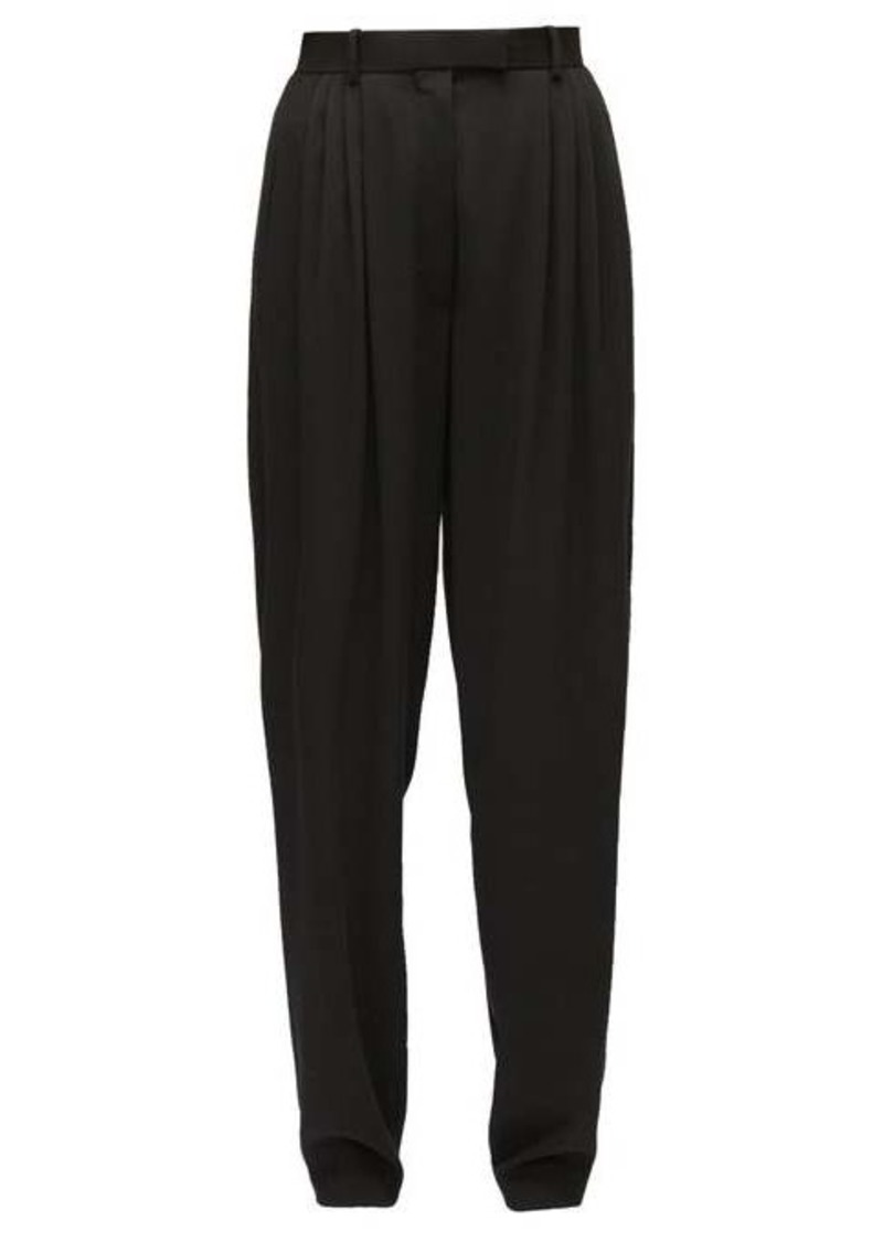 The Row Francis high-rise wool tapered-leg trousers