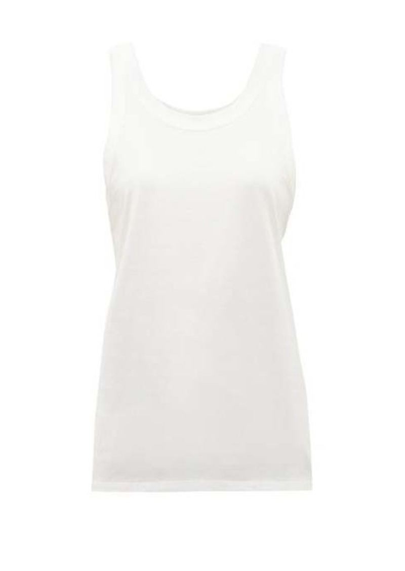 The Row Frankie scoop-neck cotton tank top