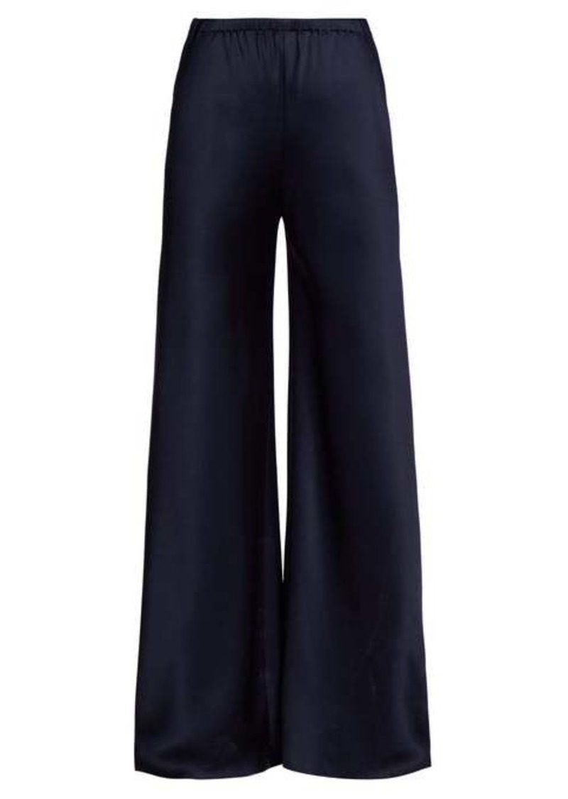 The Row Gala kick-flare silk-satin trousers