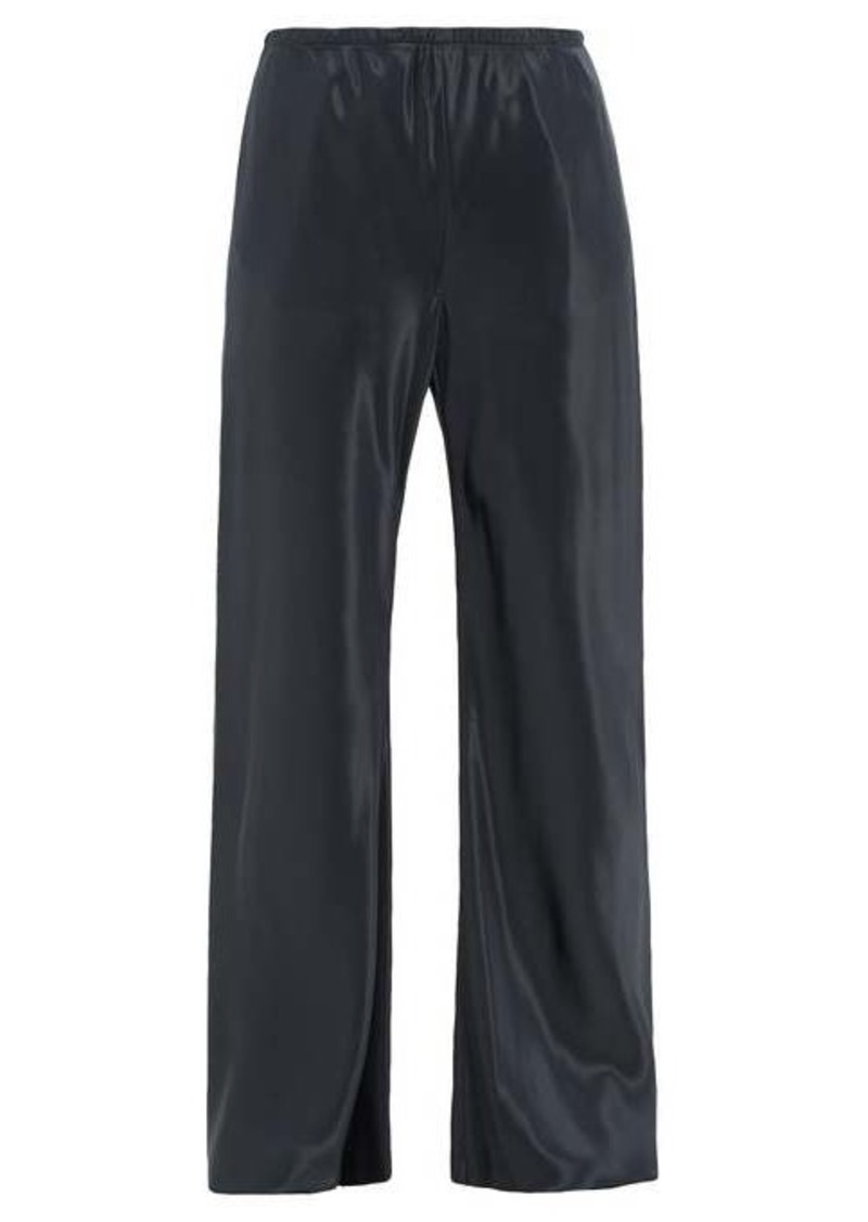 The Row Gala raw-hem satin wide-leg trousers
