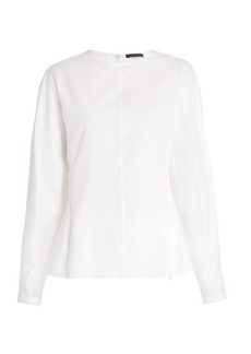 The Row Galo balloon-sleeved cotton blouse