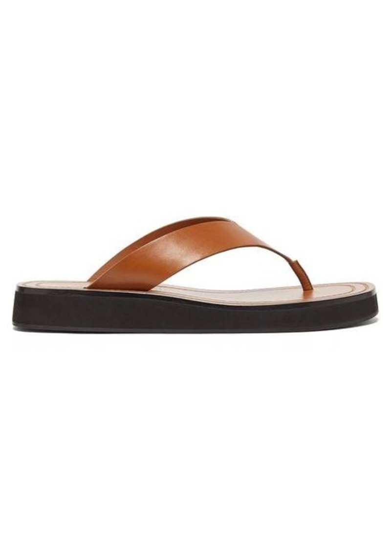 The Row Ginza leather sandals