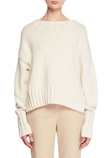 THE ROW Gracie High-Neck Long-Sleeve Knit Sweater