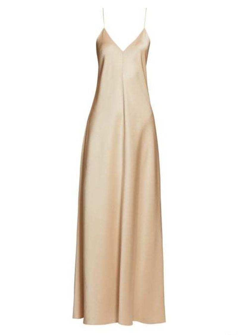 The Row Guinevere satin slip dress