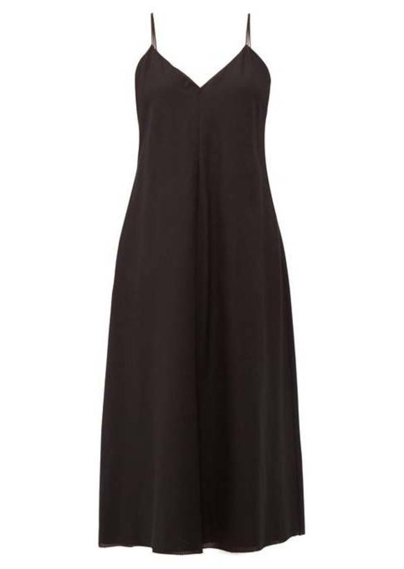 The Row Gwen spaghetti-strap cotton midi dress