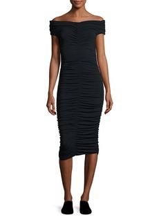 THE ROW Hali Ruched Off-Shoulder Dress