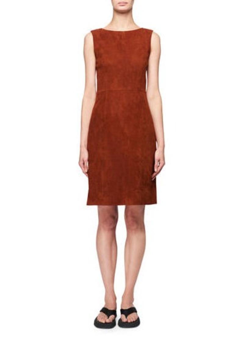 THE ROW Hara Sleeveless Suede Dress