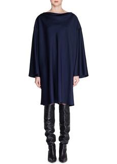 THE ROW Harper High-Neck Long-Sleeve Shift Dress