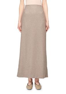 THE ROW Hena Cashmere A-Line Midi Skirt