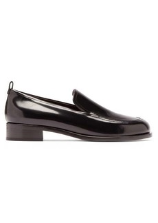 The Row High-shine leather loafers