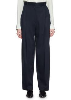 THE ROW High-Waist Straight-Leg Wool Pants