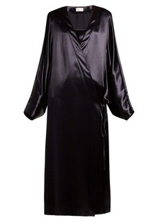 The Row Impu satin robe
