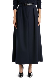 The Row Jaako Pleated Stretch Wool Skirt