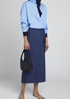 THE ROW Jenna Wool-Silk Skirt