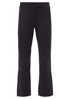 The Row Jonell flared-cuff stretch-twill cropped trousers