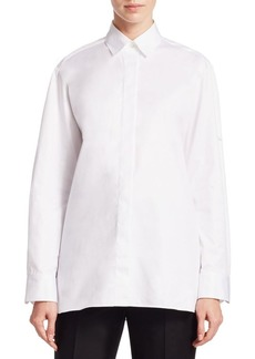 The Row Juliette Button-Front Shirt