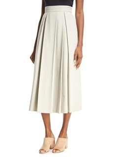 THE ROW Kanu Pleated Midi Skirt