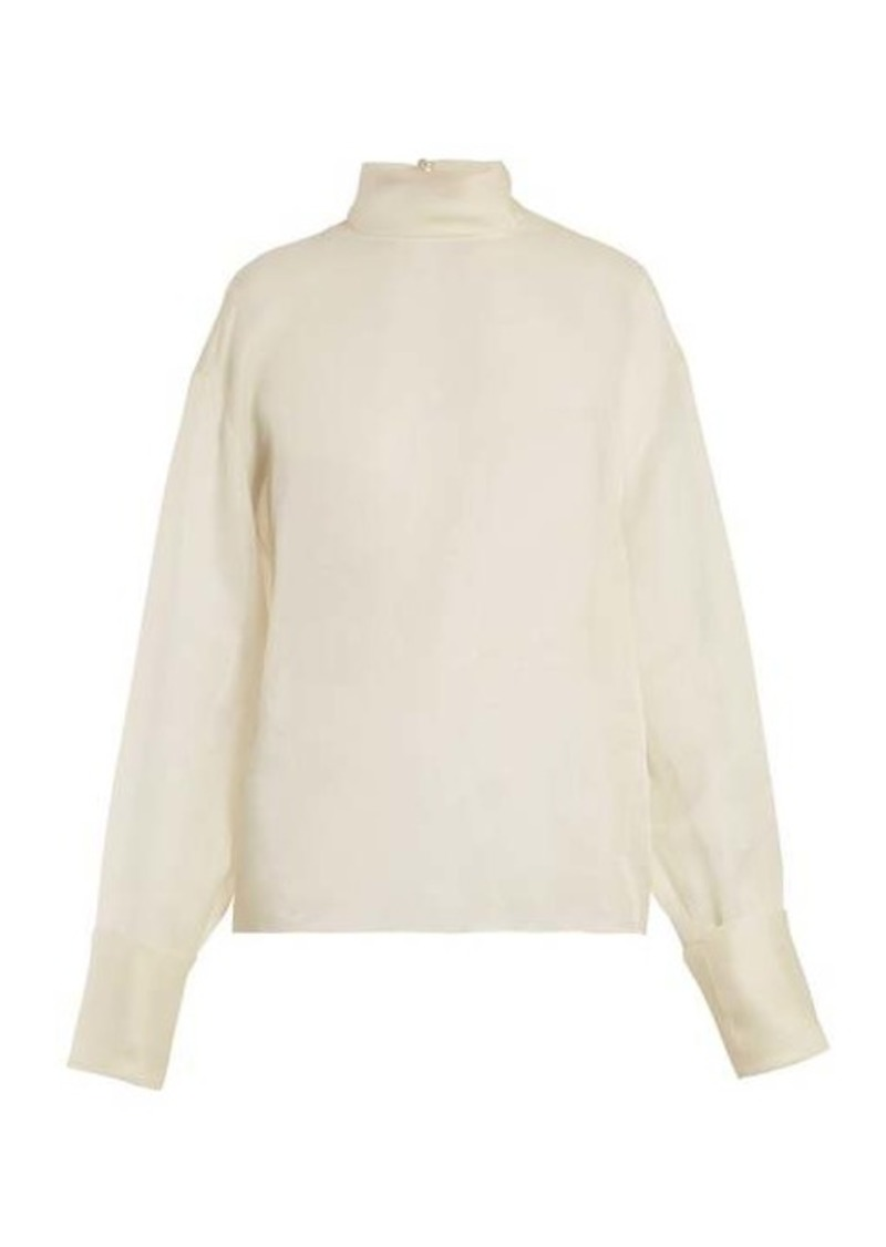The Row Karlee silk-organza blouse
