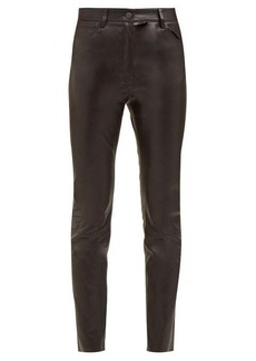 The Row Kate stretch leather high-rise skinny trousers