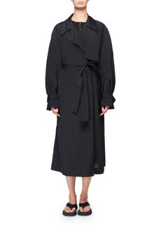 THE ROW Kereem Taffeta Belted Trench Coat