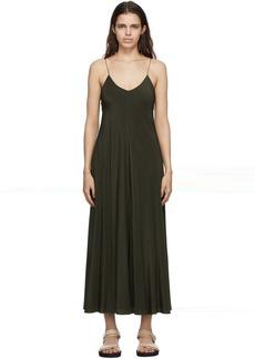 The Row Khaki Silk Edi Dress