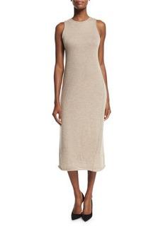 THE ROW Kira Sleeveless Cashmere Midi Dress