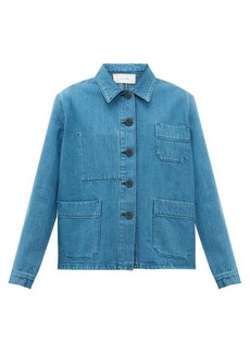 The Row Kurt patch-pocket denim jacket