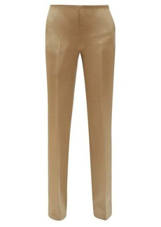 The Row Ladan straight-leg wool-blend trousers