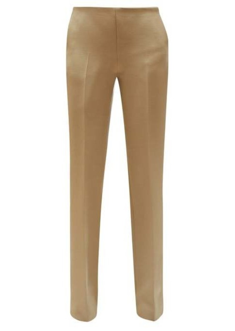 The Row Ladan straight-leg wool-blend trousers