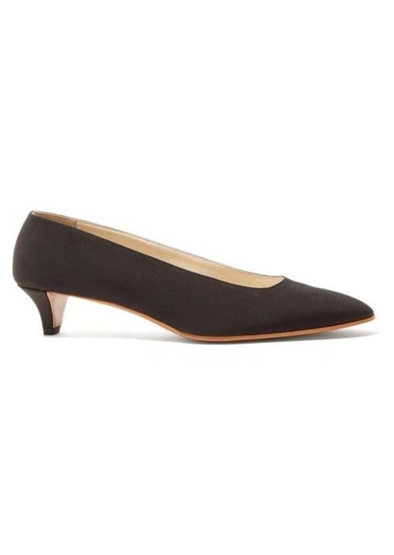 The Row Lady Di crepe kitten-heel pumps