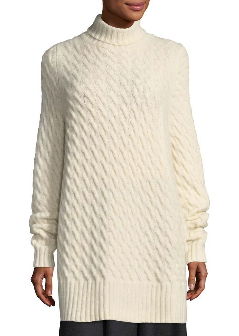 The Row THE ROW Landi Cable-Knit Cashmere Tunic Sweater | Sweaters ...