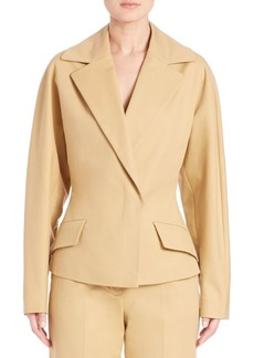 The Row Lara Stretch-Cotton Jacket