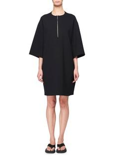 THE ROW Latif 3/4-Sleeve Zip-Front Scuba Dress