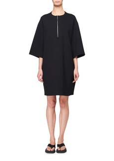 THE ROW Latif 3/4-Sleeve Zip-Front Scuba Dress