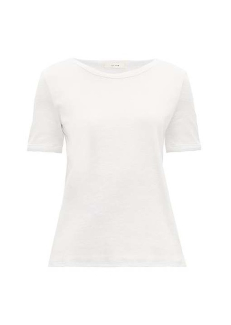 The Row Leah ribbed cotton-blend jersey T-shirt