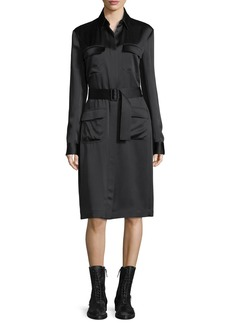 THE ROW Leob Belted Shirtdress